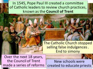 The+Catholic+Church+stopped+selling+false+indulgences+.+End+to+simony