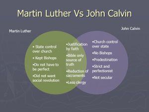 Martin+Luther+Vs+John+Calvin